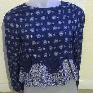 Sadie Robertson Navy Blue blouse size L